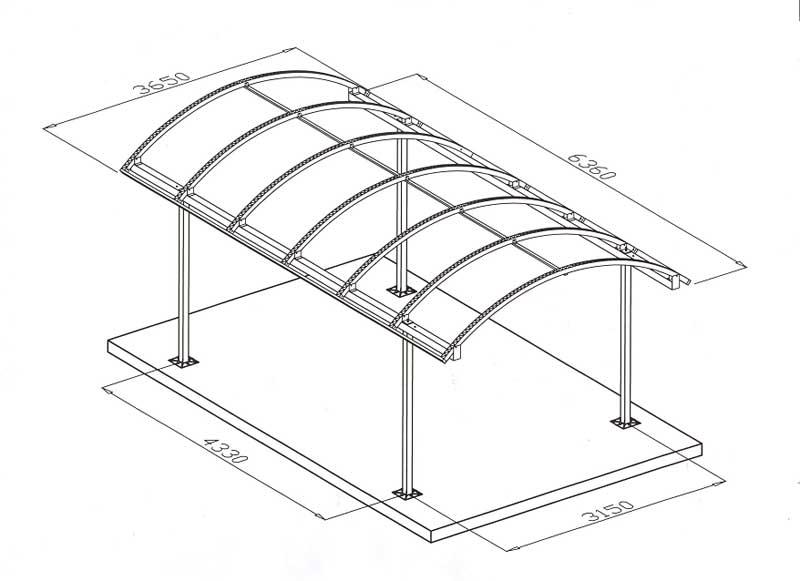 Навес из поликарбоната своими руками: рассмотрим чертежи и процесс монтажа навеса из поликарбоната