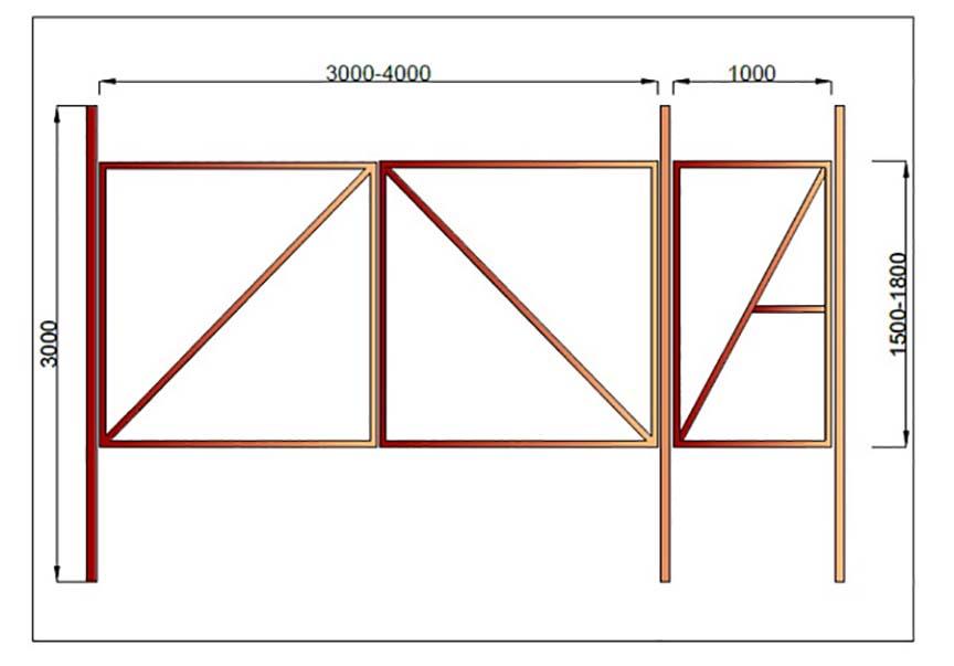 Как сделать ворота своими руками: делаем откатные ворота с помощью рельсового механизма