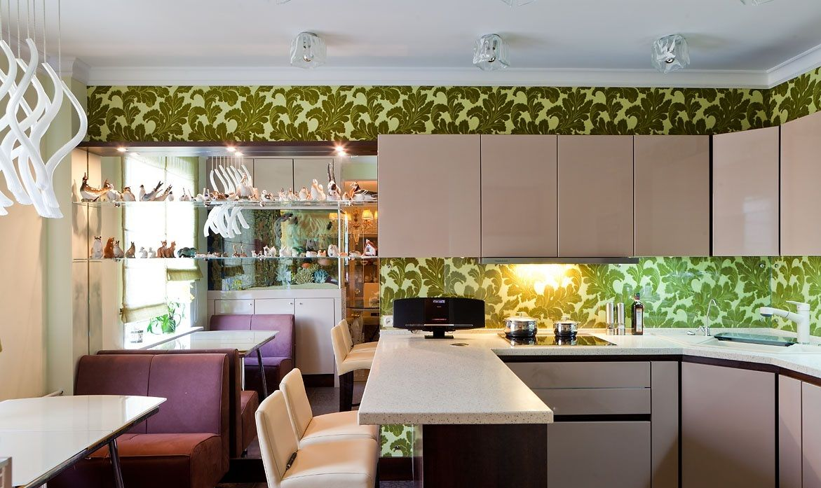 Кухни в зеленом цвете: особенности создания итерьера