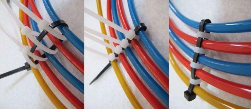 Как самостоятельно крепить электропроводку с помощью хомутов