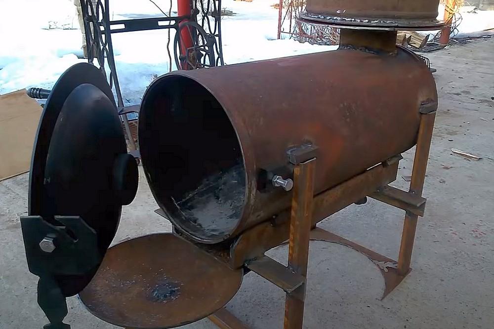 Печь из газового баллона своими руками