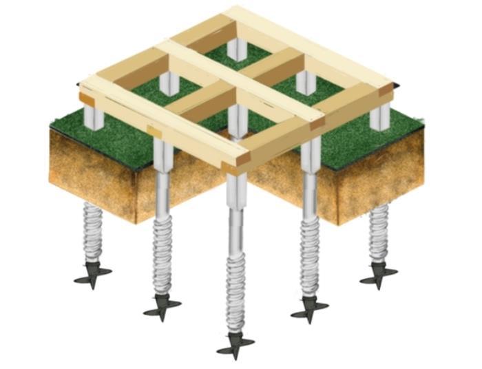 Строительство фундамента на винтовых сваях своими руками