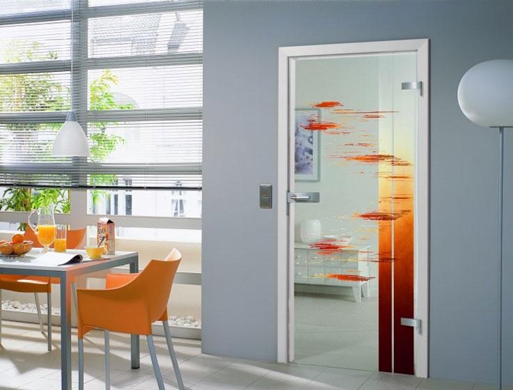 Межкомнатные двери из стекла