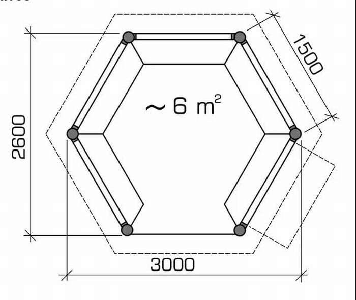 Как сделать шестиугольную беседку своими руками