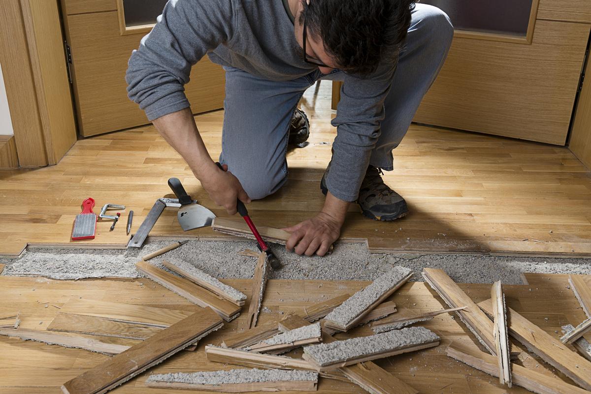 Аккуратный демонтаж ламината своими руками