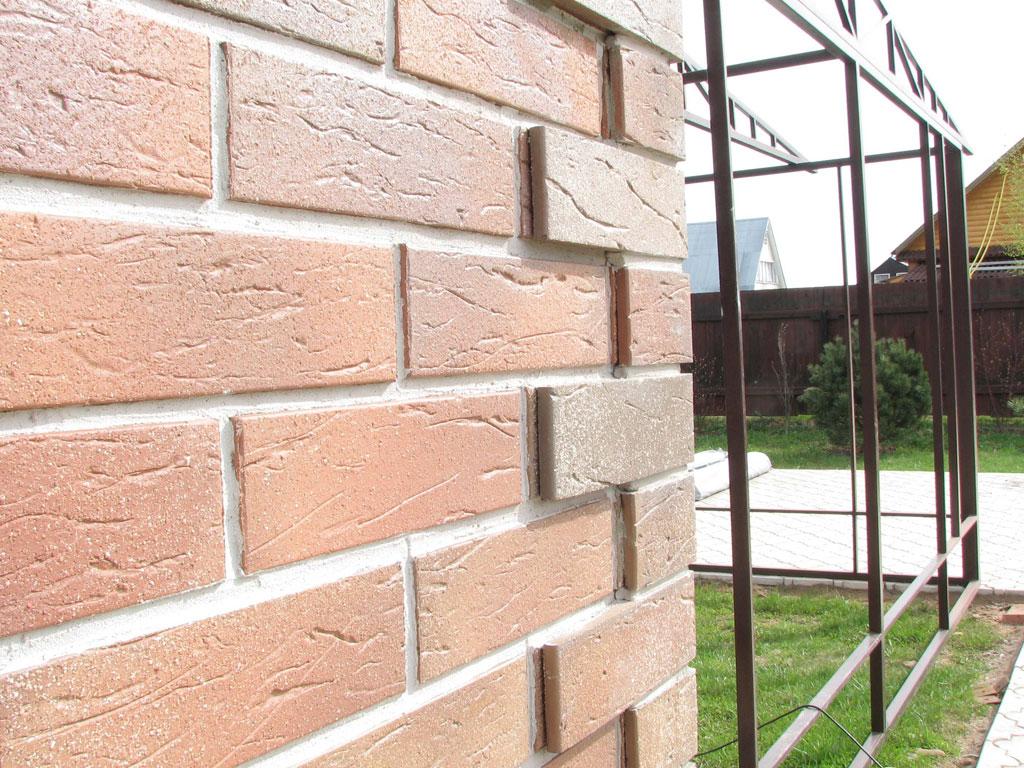 Облицовка фасада дома клинкерной плиткой