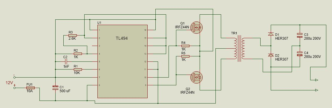 Как сделать инверторы (преобразователи) 12-220 В