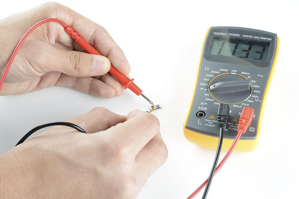 Проверка светодиодов с помощью мультиметра на работоспособность