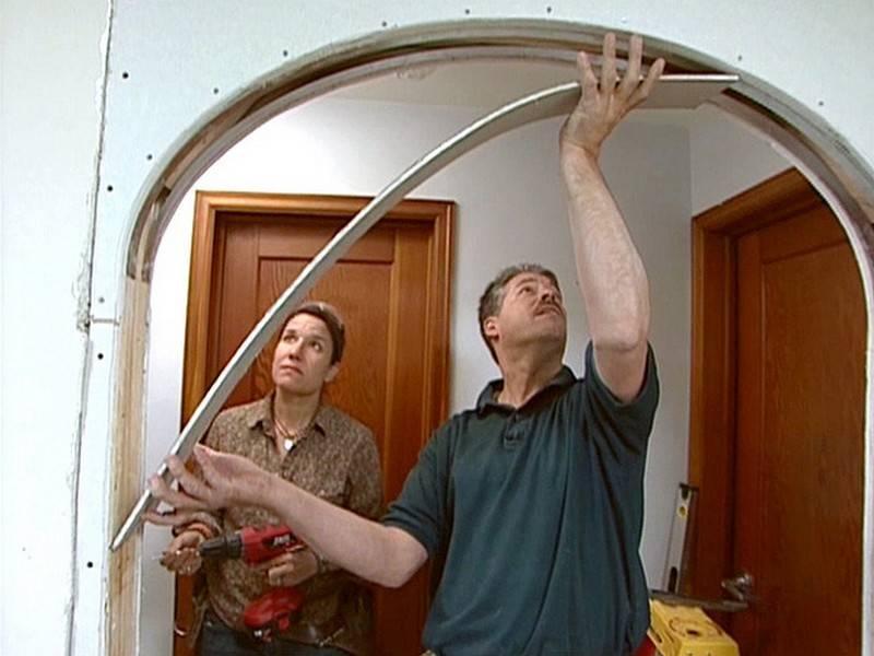 Как самостоятельно сделать арку из гипсокартона и других материалов
