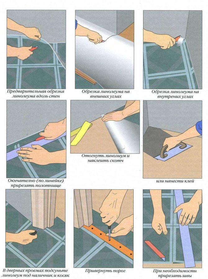 Как правильно положить линолеум
