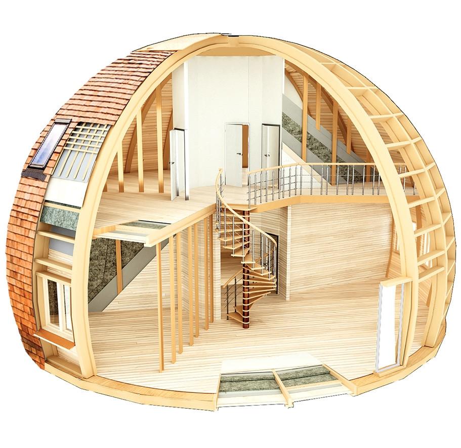 Сферические (купольные) дома: конструкции, особенности планировки