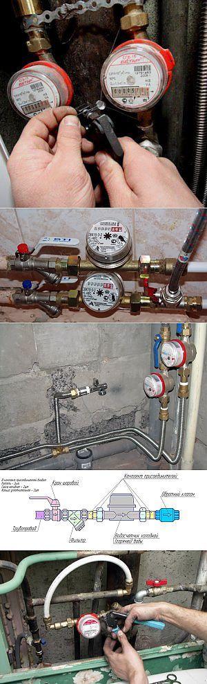 Как установить счетчик на воду в квартире