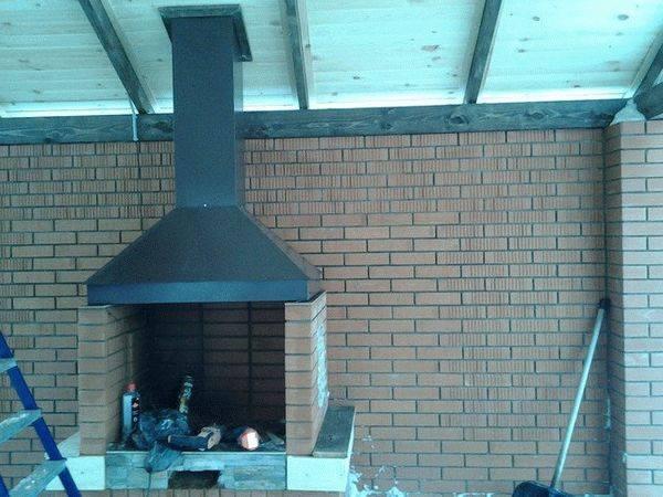 Делаем вытяжной зонт для мангала из металла или кирпича