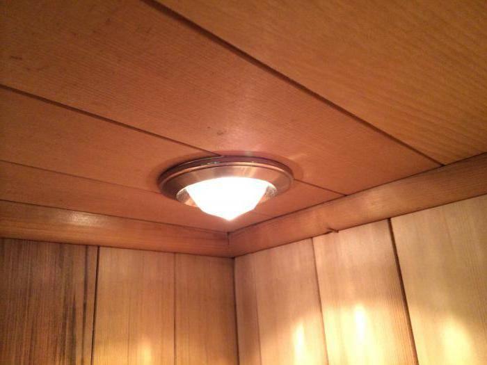 Какие светильники выбрать для бани: типы и особенности