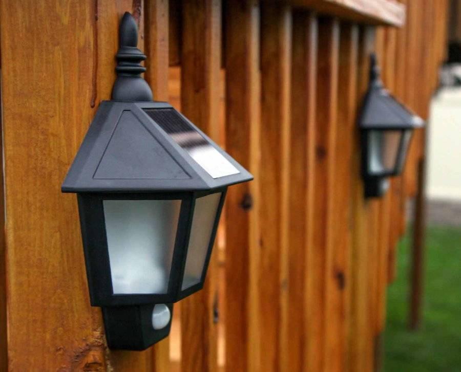 Организация уличного освещения загородного дома и дачи на солнечных батареях