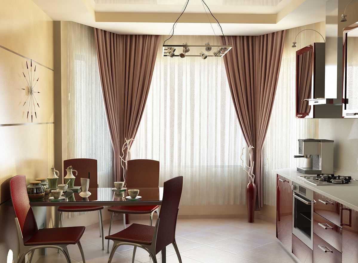 Кухонные шторы. От классики до современности (50 фото идей)