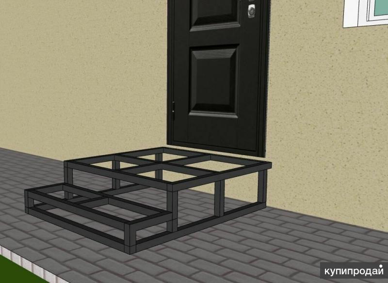 Как сделать металлическое крыльцо в частном доме своими руками