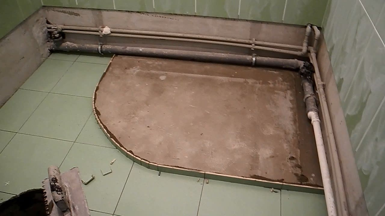 Как сделать душевую кабину с поддоном из плитки