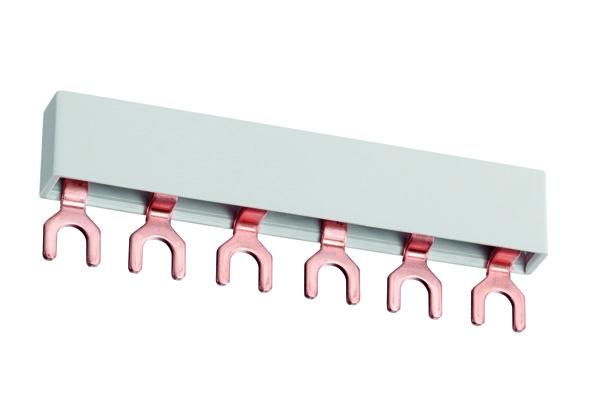 Виды и схема подключения соединительной шины-гребенки для автоматов