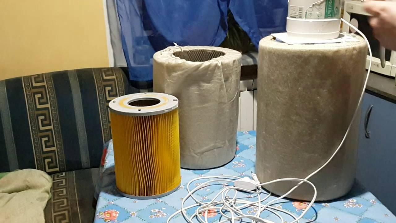 Самодельный очиститель для сухого и влажного воздуха