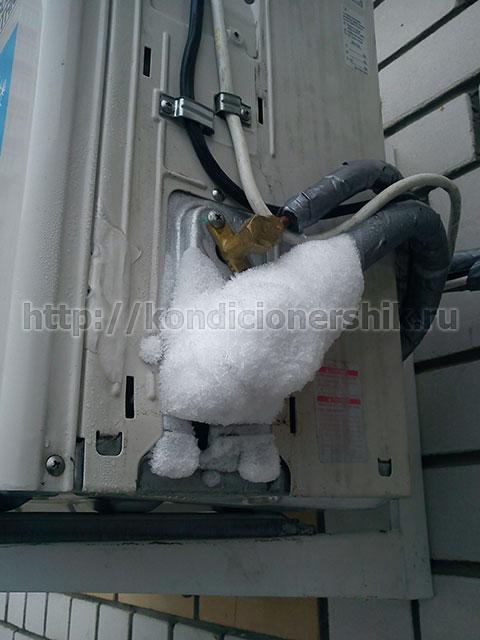 Что делать если обмерзают внутренний блок и трубки кондиционера