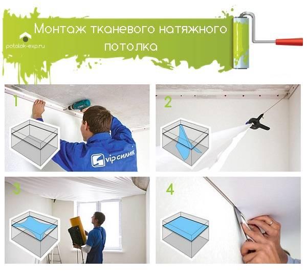 Как сделать натяжной потолок