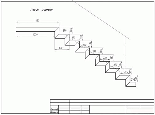 Как сделать лестницу из профильной трубы своими руками