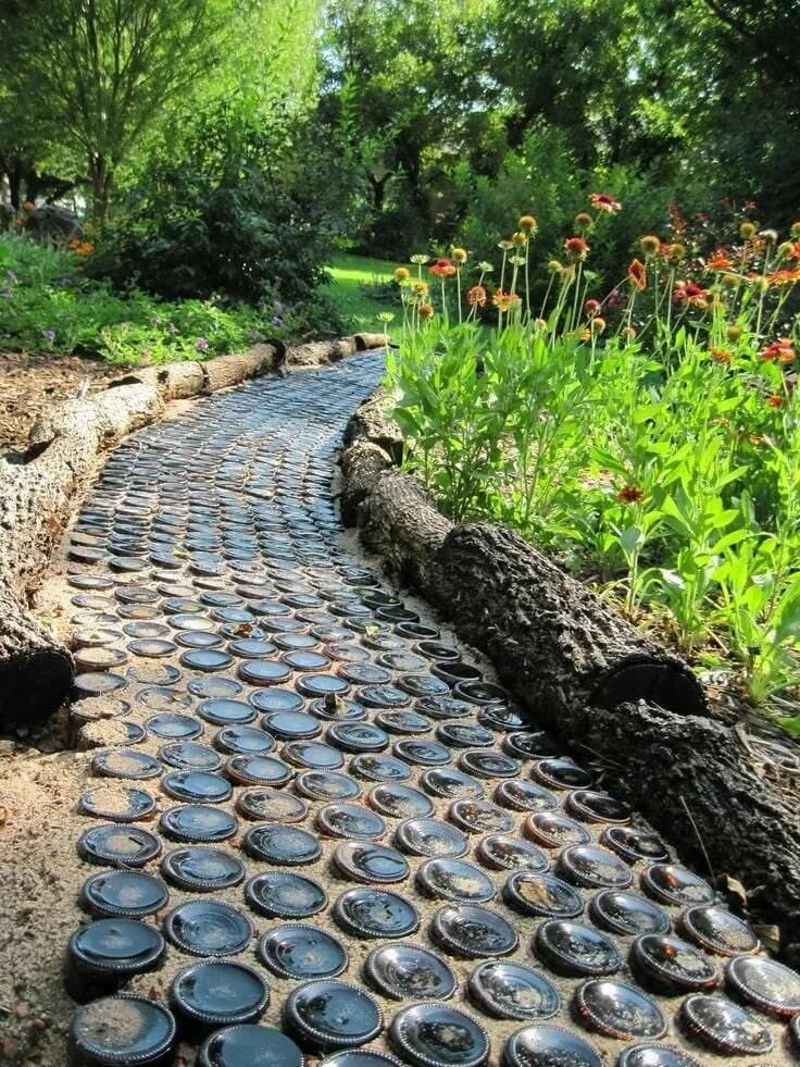 Садовые недорогие дорожки своими руками