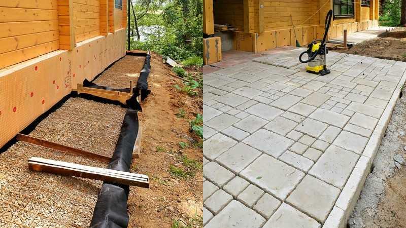 Варианты покрытия бетонной отмостки возле дома