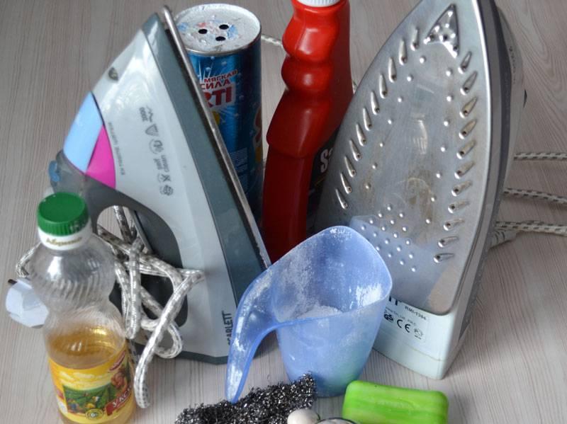 Как очистить утюг от пригара на подошве, накипи внутри