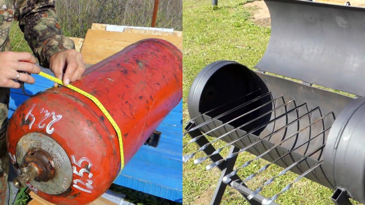 Как сделать мангал из газового баллона, бочки, трубы