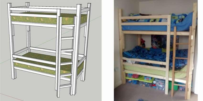 Как сделать двухъярусную кровать своими руками: чертежи и пошаговый процесс изготовления двухъярусной кровати из дерева