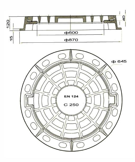 Технические характеристики дождеприемников типа ДБ