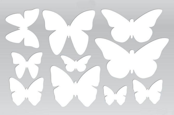 Трафареты бабочек для декора