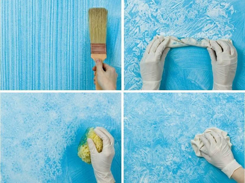 Краска с эффектом, фактурная, интерьерная или декоративная