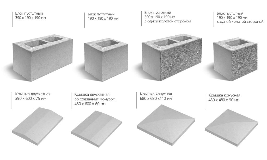 Сфера применения пустотелых бетонных блоков