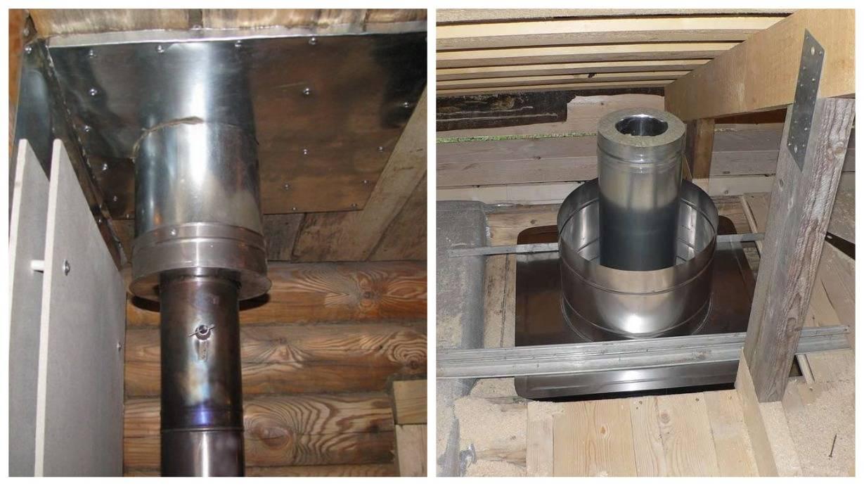 Как правильно установить трубу дымохода в бане