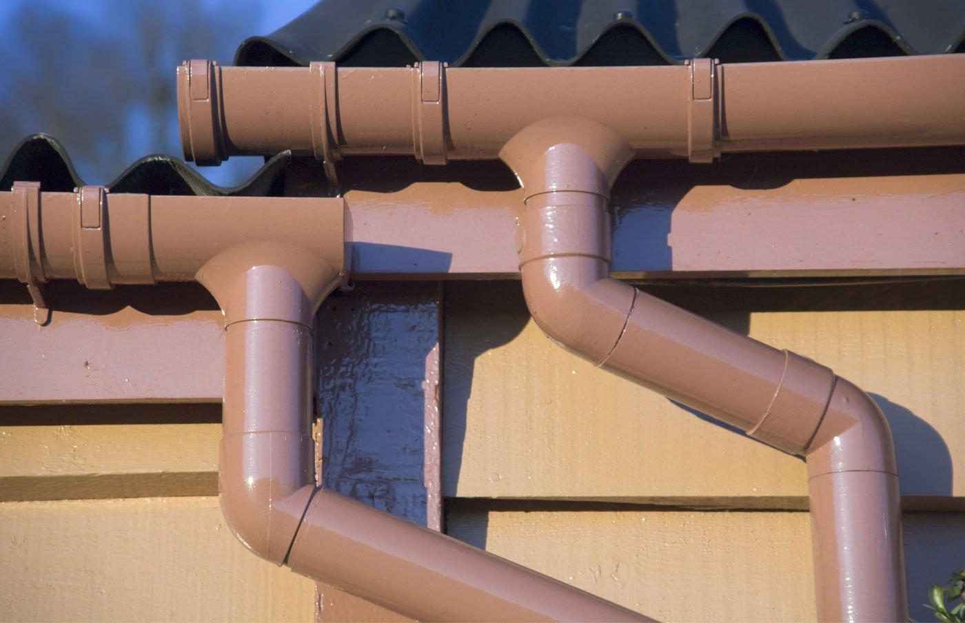 Водосток из канализационных труб: эффективно и экономно