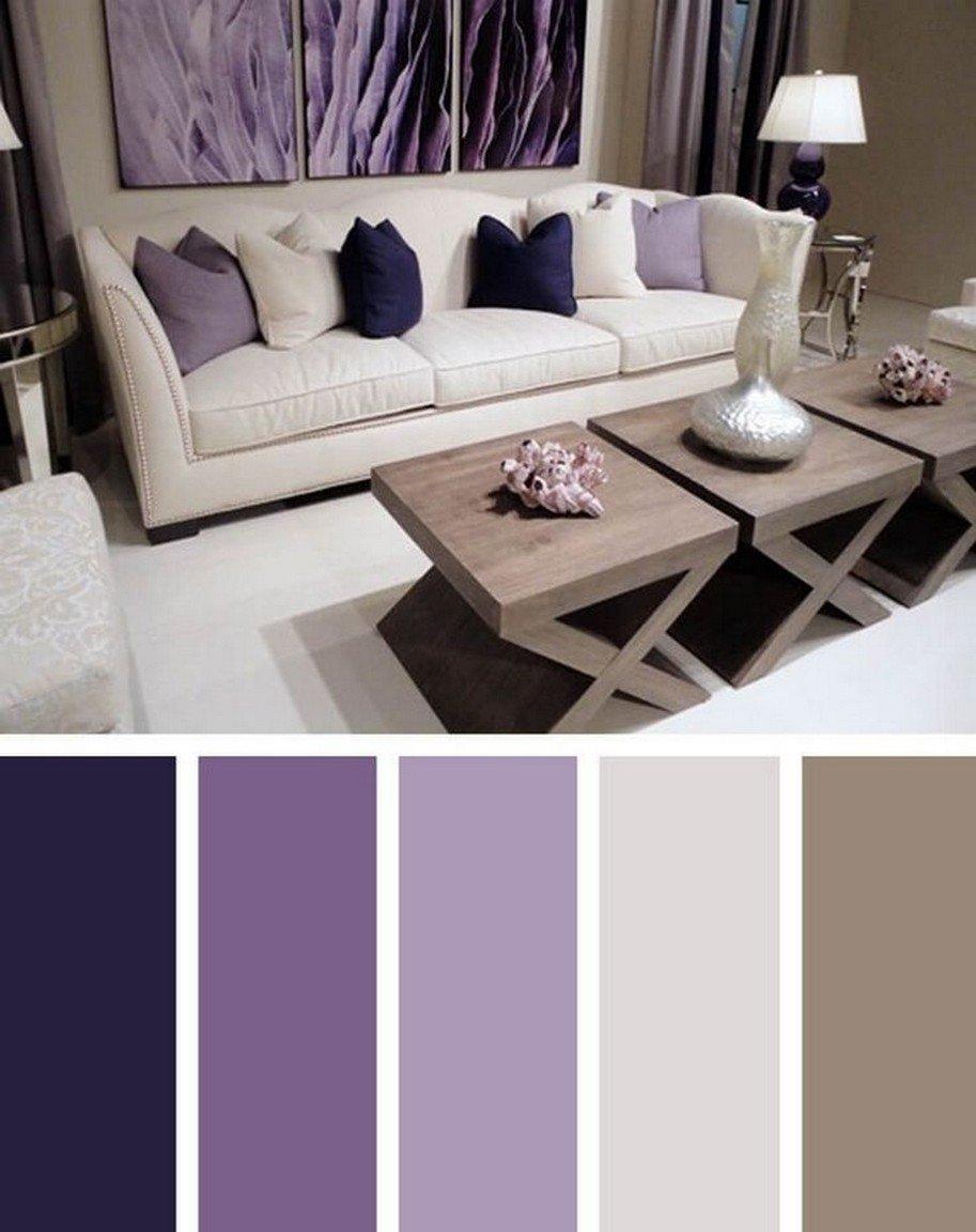 С чем сочетается фиолетовый цвет в интерьере
