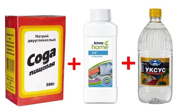 Как прочистить канализацию содой и уксусом
