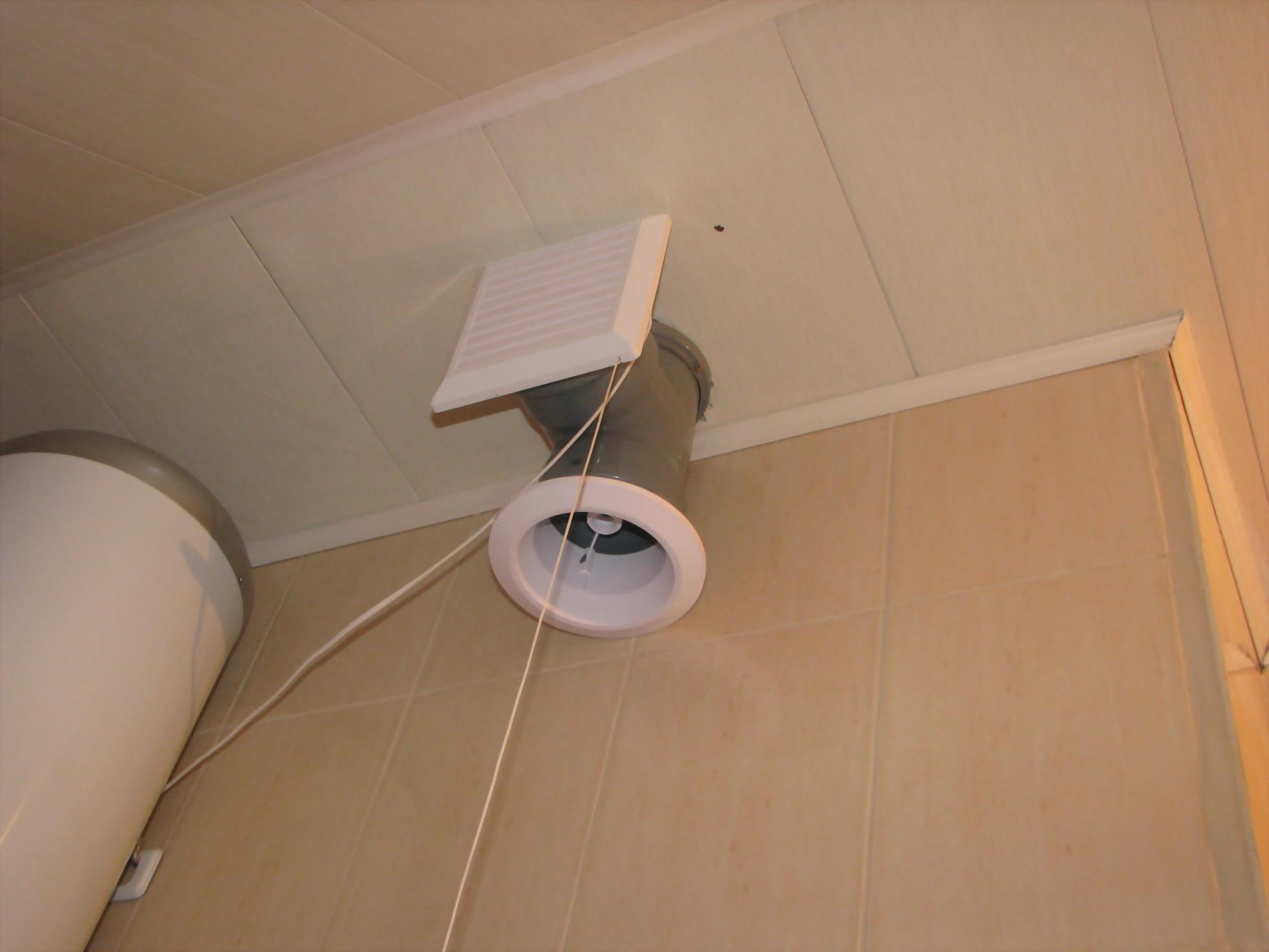Как сделать принудительную вентиляцию в ванной комнате своими руками, схема