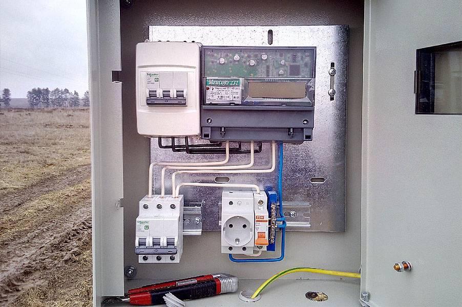 Схема трехфазного вводного щитка для электропроводки в частном доме