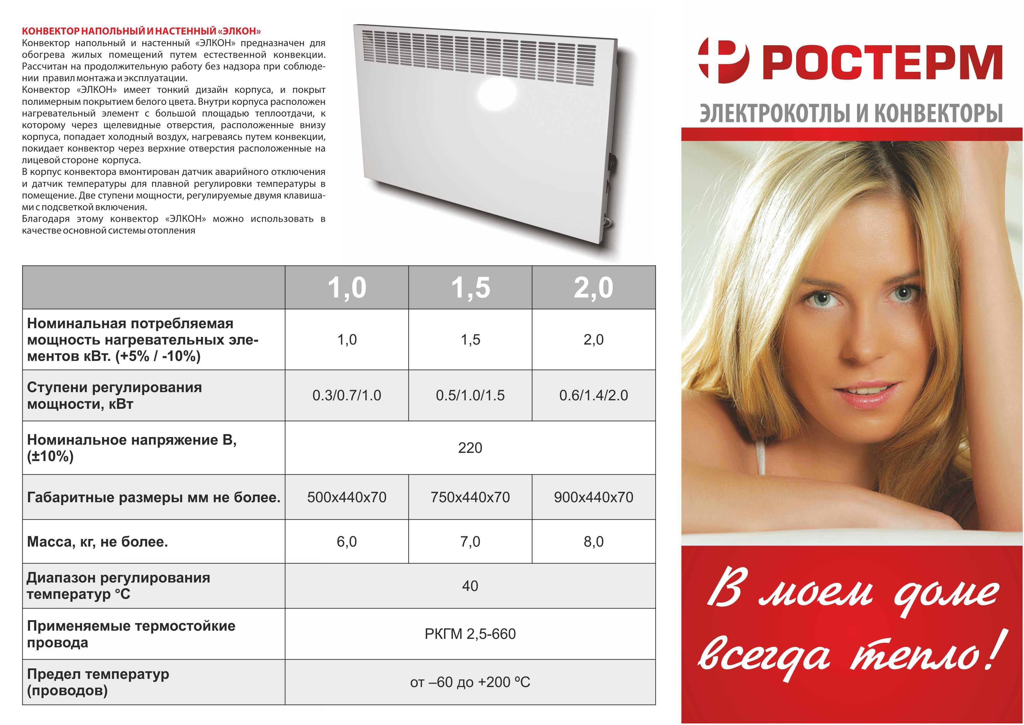 Выбор электрических конвекторных обогревателей