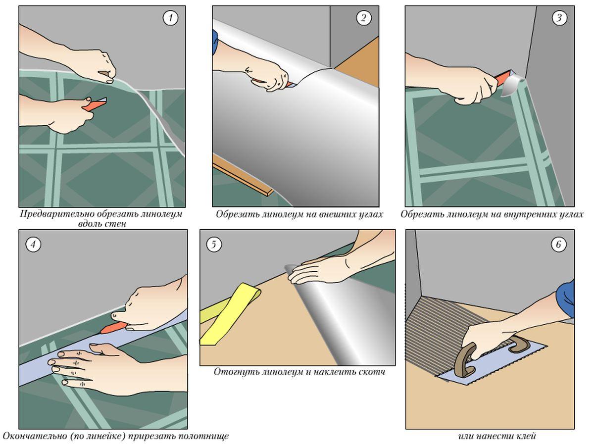 Как правильно крепить линолеум к деревянному полу