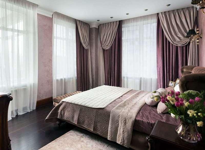 Шторы в спальню: выбор (24 фото)