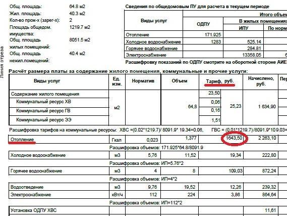 Калькулятор расчета платежей по общедомовому счетчику тепла