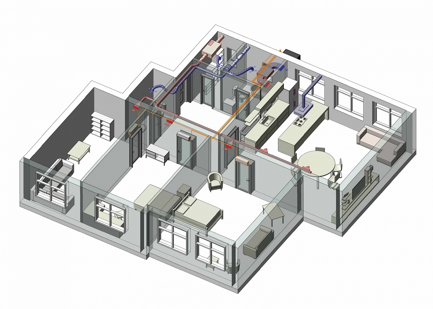 Решение вопроса кондиционирования в разных помещениях