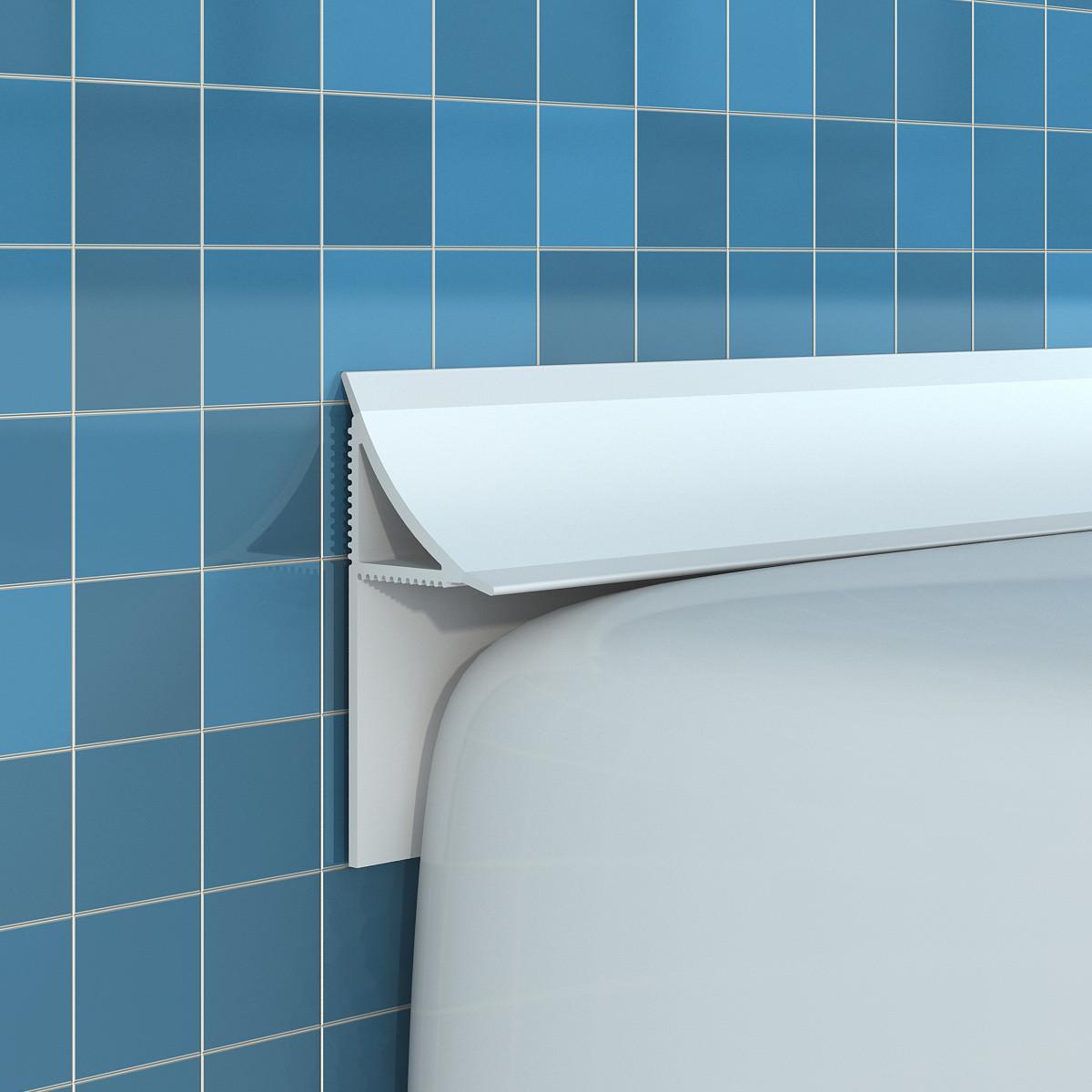Каким может быть бордюр для ванны, как его монтировать