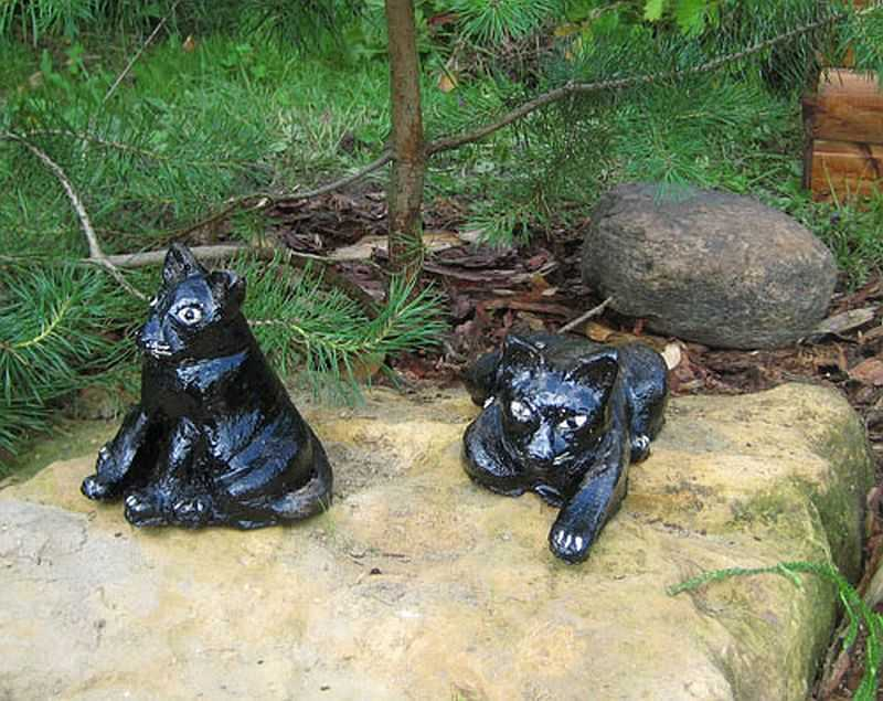 Как сделать фигурки, скульптуры для сада и участка