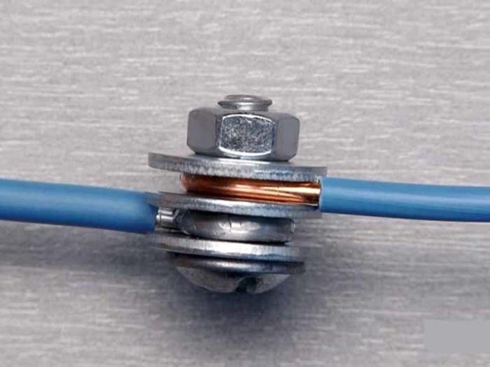 Как правильно соединить провода из меди и алюминия